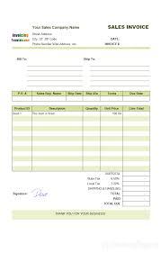 Sales Invoice Sales Invoice Template