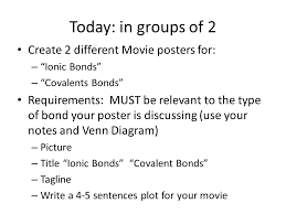 Ionic Vs Covalent Bonds Venn Diagram Do Now 2 10 10 Create A Venn Diagram Of Covalent Bonds