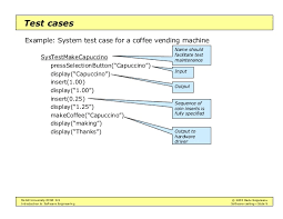 Test Cases For Coffee Vending Machine Adorable Intro To Software Engineering Software Testing