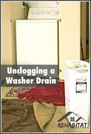 steaps for unclogging a washer drain and how to clean up a flooded house steps