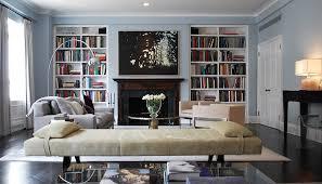 framed built in shelves for living room