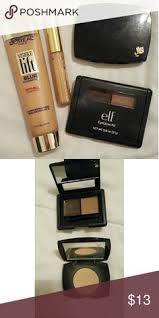 elf eyebrow kit medium vs dark. elf eyebrow kit (lighty used) visible lift foundation in 209 true beige estee lauder stay place concealer 02 light medium lancome duel finish powder vs dark
