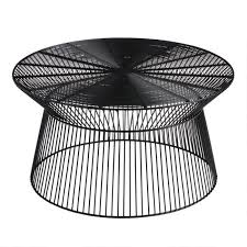 round black metal zeke outdoor coffee