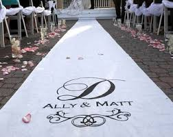 wedding aisle runner personalized white Unique Wedding Aisle Runner wedding aisle runner personalized white unique wedding aisle runners