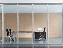 office partition with door. Acoustic Glass Office Partition WALLTECH With Door