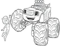 Blaze Coloring Pages To Print Out Jokingartcom Blaze Coloring Pages