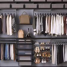 walnut platinum elfa dcor closet the container