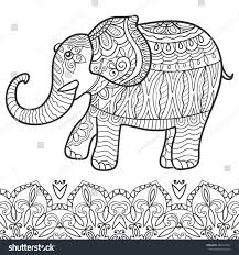 hand drawn stylized fantasy patterned zen tangle style art vector doodle pattern indian theme with ornaments isolated elements for coloring book
