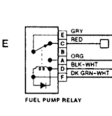 93 suburban fuel pump getting power the diagnostic connector let me know how you make out so that i can further assist you here is a wiring schematic of the relay just in case yours is not labeled