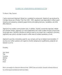 Employment Reference Letter Templates Free Sample Example