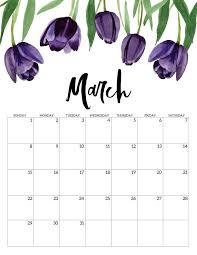 2020 Free Printable Calendar Floral Free Printable