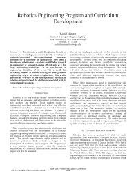 Computer Science Ucsc Curriculum Chart Pdf Robotics Engineering Program And Curriculum Development