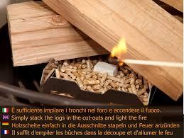 2er Pack Kamin Anzündkorb Pelletkorb Zum Anfeuern Mit Holzpellets Generation 40 2 Stück