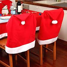 kitchen chair back covers. Hat Chair Covers Clause Red Back Kitchen For Holiday Festive Decor D