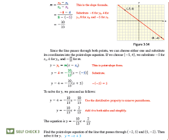 solved use point slope form to write