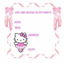 Hello Kitty Party Invitation Hello Kitty Party Invitation Templates Hello Kitty