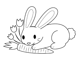 Probably easter bunny coloring pages, easter egg coloring pages, lilies to color and other images of spring coloring pages. Printable Bunny And Carrot Coloring Page