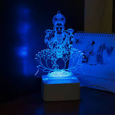 Small Picture Aliexpresscom Buy India God Lakshmi 3D Night Light USB LED Desk
