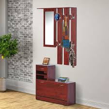 entry way bench and coat rack entryway hall shoe storage organizer cabinet  shelf w mirror racks