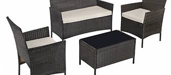4 polyrattan garden furniture