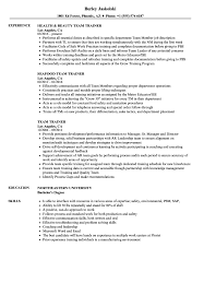 Team Trainer Resume Samples | Velvet Jobs