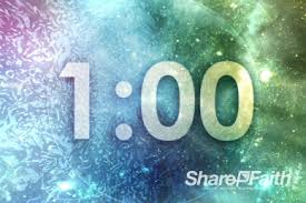 1 Minute Countdown 5 Minute Cosmic Ministry Religious Countdown Timer Church