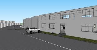 Factory Building Design 3d Factory Building Design With Car Parking Skp File Cadbull