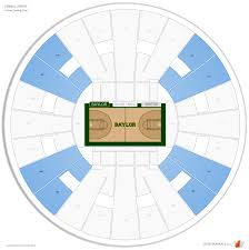 Baylor Basketball Arena Seating Chart Ferrell Center Baylor Seating Guide Rateyourseats Com