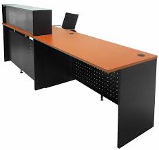 Desk glass top Wood Modern Office Glass Top Wheelchair Accessible Reception Desk