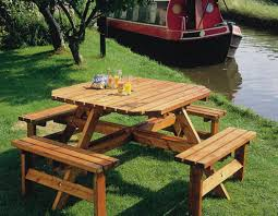 fullsize of marvelous outdoor wood picnic table set round tables furniture fing bench f up plans