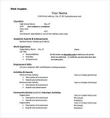 Scholarship Resume Format Inspiration College Admission Resume Template Applicant Scholarship Application