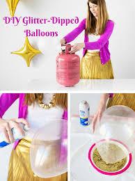 diy glitter dipped balloons
