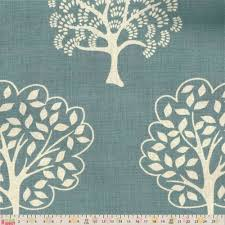 Curtain Fabric Upholstery Curtain Fabric Forest Trees Duck Egg