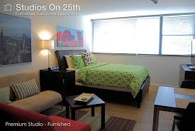 one bedroom studio apartment premium studio studios on 25th by bca residential furnished apartments bca living room furniture