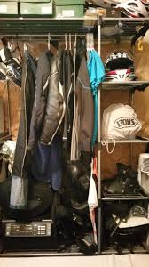 Motorcycle Coat Rack This is my gear rack fits my entire motorcycle wardrobe except my 7