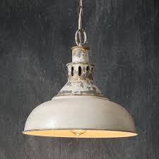 White Barn Light Pendant Distressed White Barn Pendant Light In 2020 Farmhouse