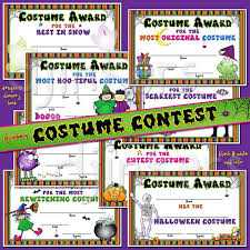 Halloween Costume Awards Costume Contest Certificates For Halloween With Clipart By Dj Inkers