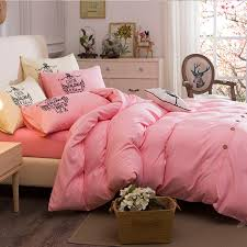 solid bedding set fashion and elegant on duvet cover set twin full queen king bed linen multi color 4pcs bedclothes in bedding sets from home garden