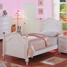 Girls Twin Bed White Crystal Bedroom Collection Panel In 19
