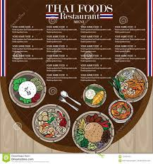 Food Menu Design Menu Thai Food Design Template Stock Vector Illustration Of Card