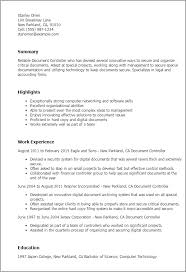professional document controller templates to showcase your talent    resume templates  document controller