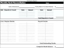 Check Reconciliation Template Bank Statement Template Excel Bank Reconciliation Template Excel