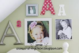 here are the  on diy little girl wall art with diy kid room decor monogram photo wall the crafting chicks
