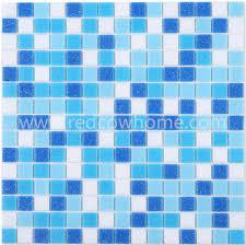 hotel deco hot melting dark blue pool glass mosaic tile