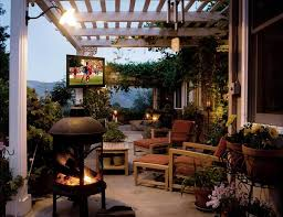 outdoor tv setup with multi zone receiver