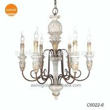 french wood chandelier walnut carved rustic and metal with