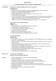 Sample Programmer Resume PLC Programmer Resume Samples Velvet Jobs 8