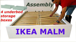 ikea malm bed frame embly with 4