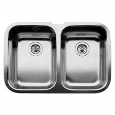blanco supreme undermount stainless steel 32 in equal double bowl kitchen sink 440224 the home depot
