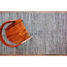 hand woven flatweave 3 4 x 5 8 grey flat weave